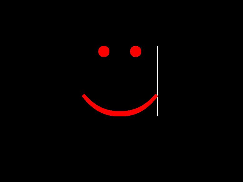 スマイルを表す顔文字