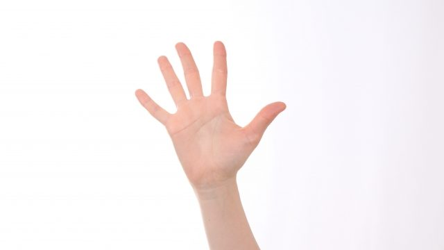 ノ(挙手)